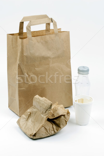 продовольствие сумку используемый обед рынке супермаркета Сток-фото © rbouwman