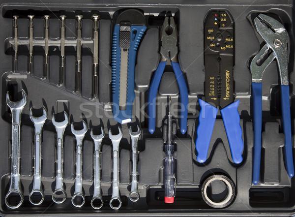 инструменты набор окна стороны работу домой Сток-фото © rbouwman