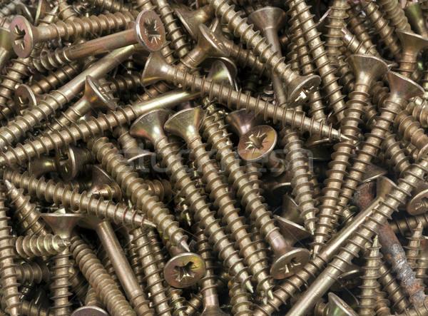 строительство работу винта плотник орехи дыра Сток-фото © rbouwman