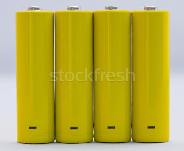 батареи желтый небольшой положительный негативных признаков Сток-фото © rbouwman