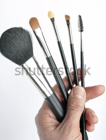 щетка косметических лице черный белый инструментом Сток-фото © rbouwman