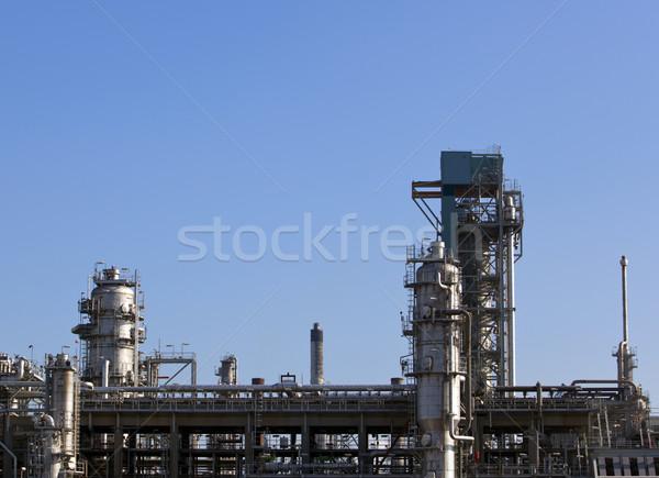 завода химического Blue Sky строительство завода нефть Сток-фото © rbouwman