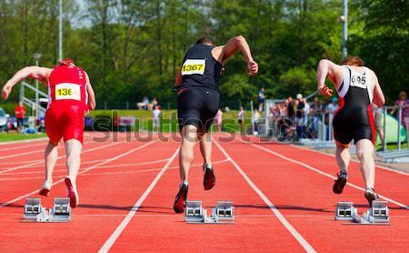 Перейти спортсмена трек человека спорт тело Сток-фото © rbouwman
