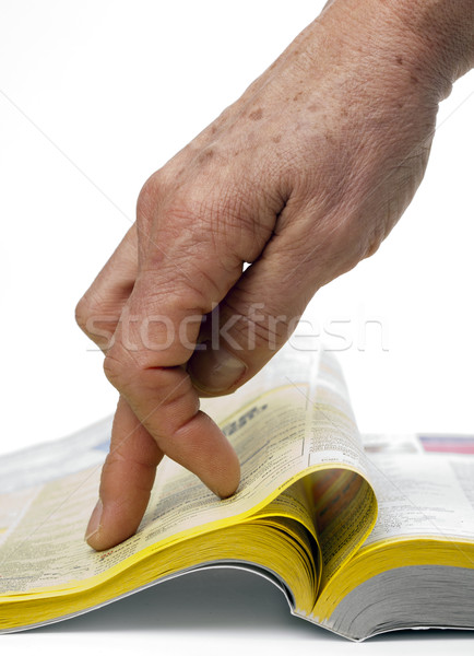 поиск желтый бумаги бизнеса книга телефон Сток-фото © rbouwman