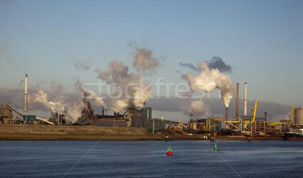 завода пар Blue Sky воды здании строительство Сток-фото © rbouwman