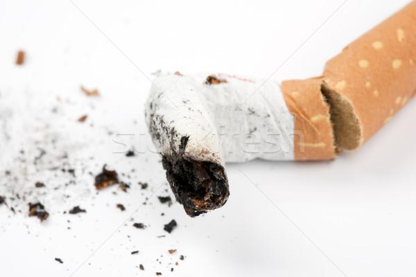 сигарету прикладом белый Сток-фото © rbouwman