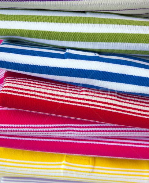 рынке женщины моде ткань интерьер Сток-фото © rbouwman