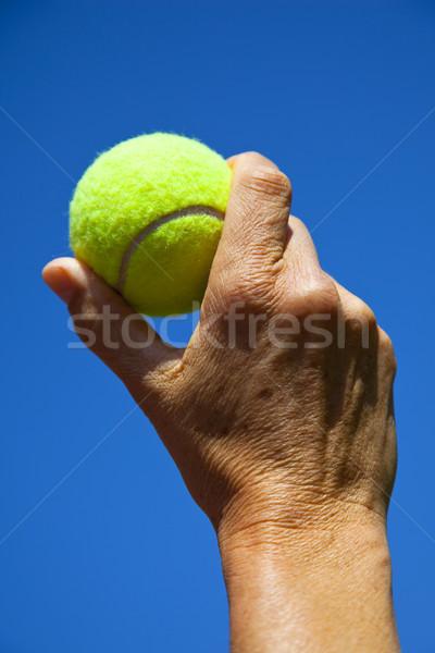 стороны Blue Sky спорт мяча человека сфере Сток-фото © rbouwman