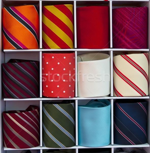 галстук рынке моде фон бизнесмен оранжевый Сток-фото © rbouwman