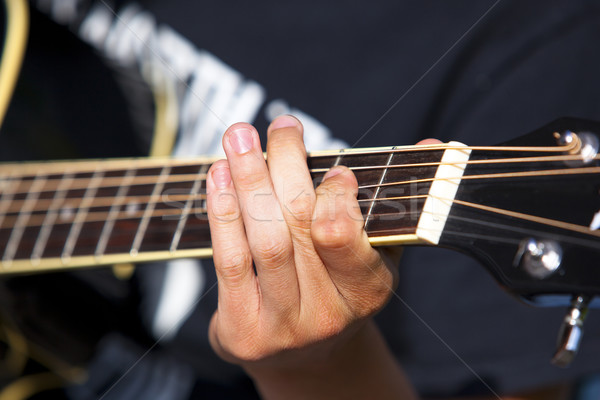 гитаре играет подробность один стороны концерта Сток-фото © rbouwman