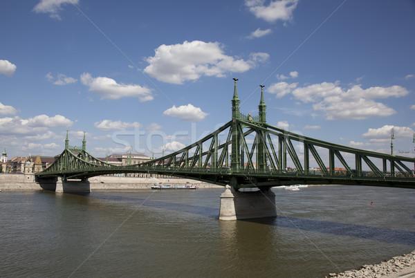 моста Будапешт город архитектура Cityscape отражение Сток-фото © rbouwman