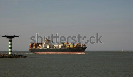 судно Роттердам Нидерланды промышленности транспорт крана Сток-фото © rbouwman