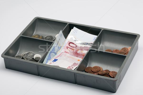 деньги евро открытых выдвижной ящик бизнеса окна Сток-фото © rbouwman
