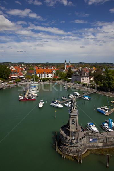 порта острове Германия дома здании город Сток-фото © rbouwman