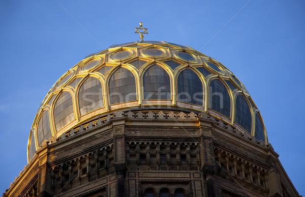 Synagoge top nieuwe Berlijn Duitsland reizen Stockfoto © rbouwman