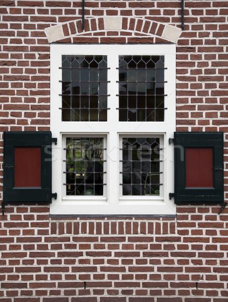 Windows окна старые голландский дома Сток-фото © rbouwman