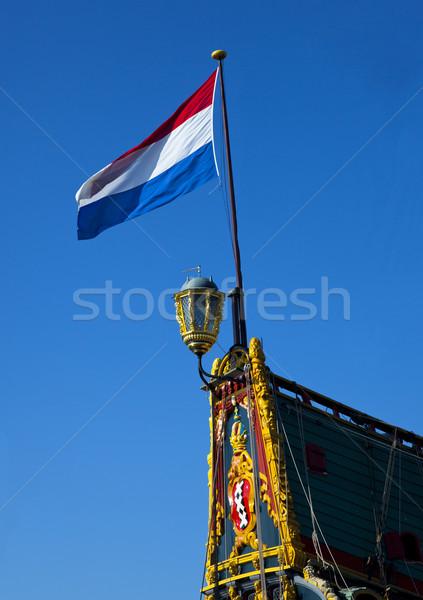флаг голландский старые древесины назад Vintage Сток-фото © rbouwman