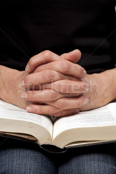 чтение женщину Библии Пасху рук Иисус Сток-фото © rbouwman