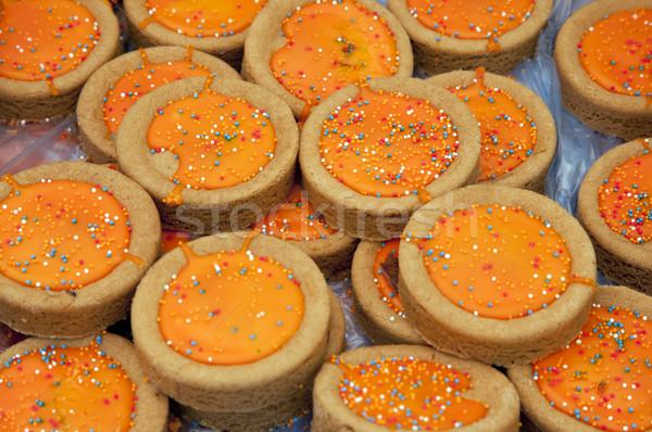 Stok fotoğraf: Hollanda · kurabiye · pazar · gıda · arka · plan · tatlı