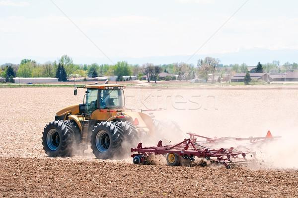 Gazda mező ültet nehézgépek következő évszakok Stock fotó © rcarner