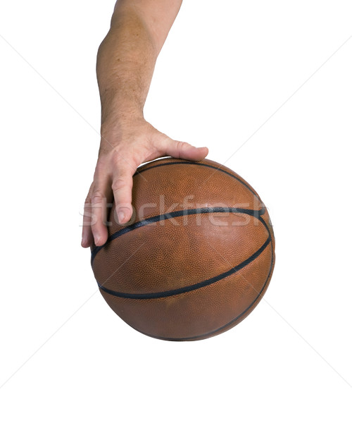 Arm and hand dribbling a basketball Stock photo © rcarner
