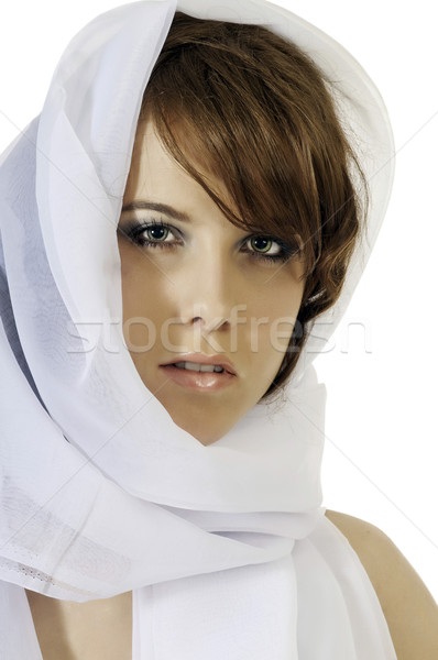 модный женщину красивой шарф Сток-фото © rcarner