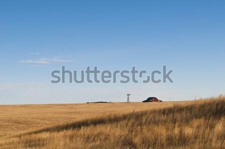 ワイオミング州 納屋 風車 米国 ストックフォト © rcarner