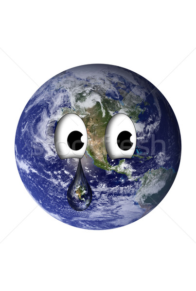 Earth with a teardrop Stock photo © rcarner