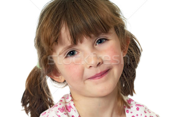 Stockfoto: Tonen · lipgloss · cute · meisje · lippen