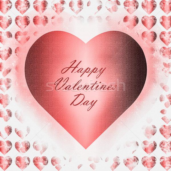 Projeto dia dos namorados cartão corações Foto stock © rcarner
