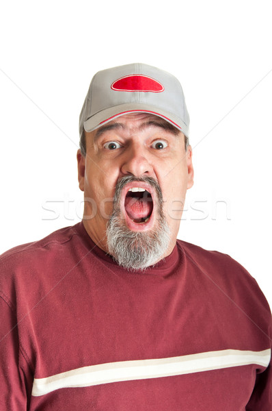 Fear In An Adult Man Stock photo © rcarner