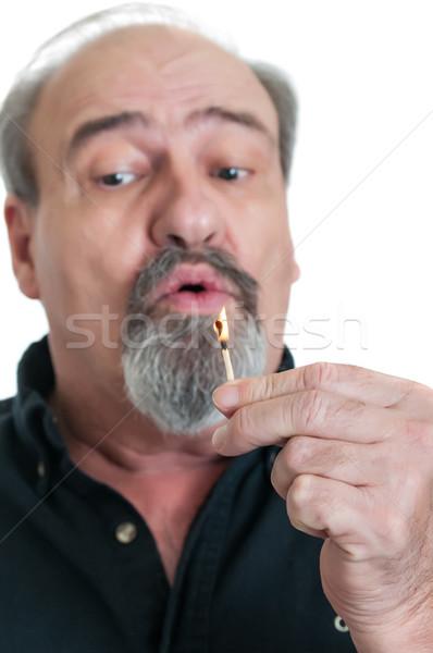 Bereit Schlag heraus Flamme reifen männlich Stock foto © rcarner
