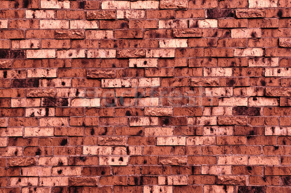 Brick Wall With a Dark Red Tint Stock photo © rcarner