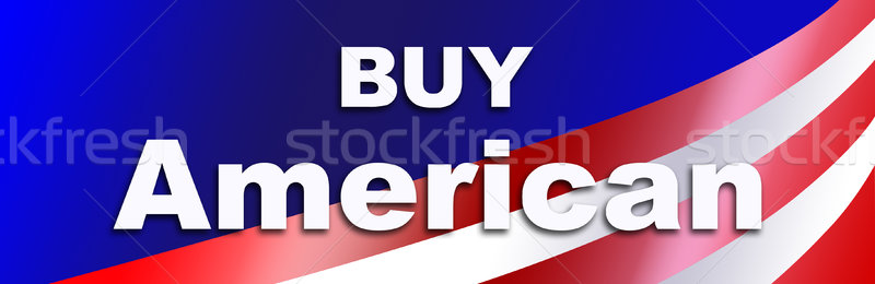 Stock photo: Buy American Products