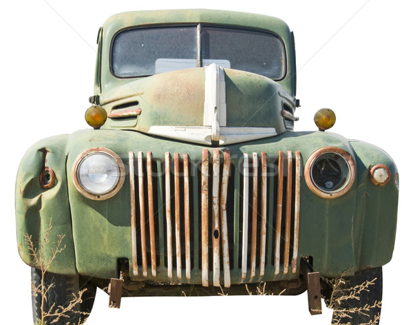 Beat up truck cut out of a junkyard Stock photo © rcarner