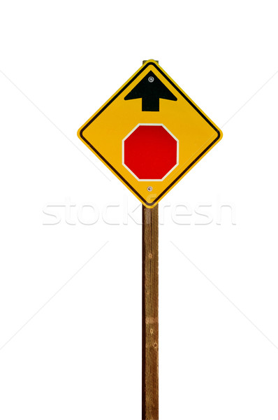 Stop Sign Ahead Stock photo © rcarner