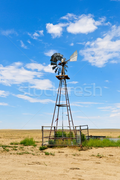 Windmill In Southern Colorado Stock photo © rcarner