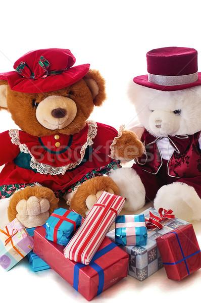 Teddy bear Christmas Stock photo © rcarner