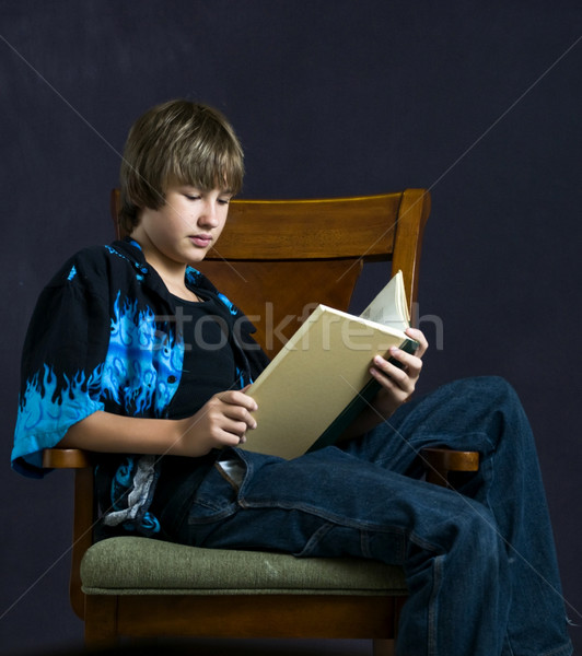 Young man reading Stock photo © rcarner