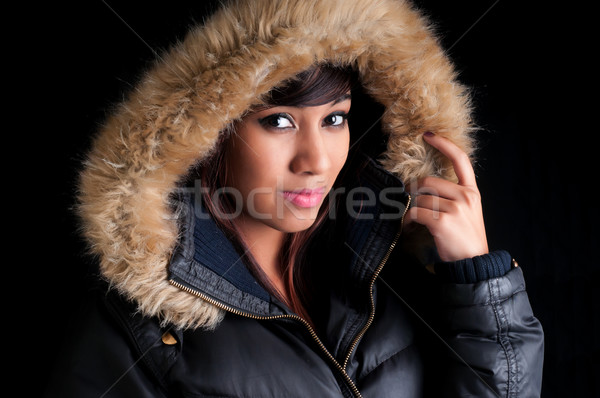 Pretty Girl in a Parka Stock photo © rcarner