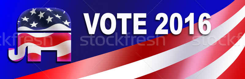 Stock photo: Republican election Sticker for 2016
