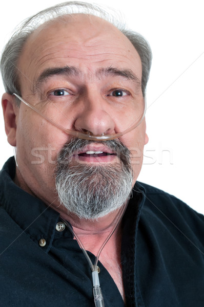Mature Male with a Breathing Disability Stock photo © rcarner