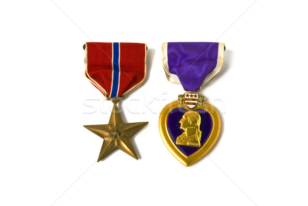 Bronze star and Purple heart medals Stock photo © rcarner