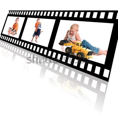 лет весело деятельность Диафильм мало мальчики Сток-фото © rcarner