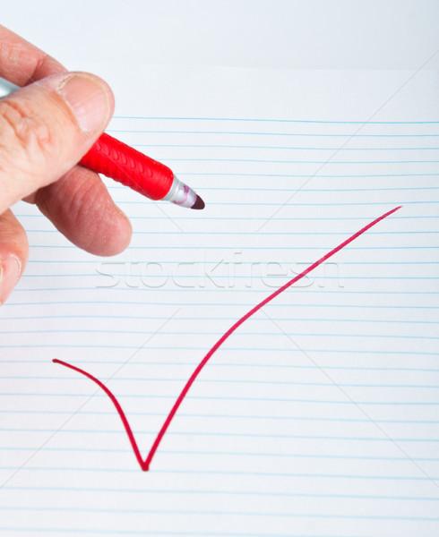 красный большой знак отказ служба бумаги Сток-фото © rcarner