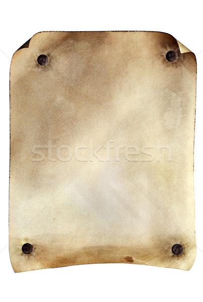 плакат Гранж выветрившийся пергаменте изолированный Сток-фото © rcarner