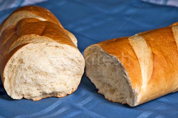 сломанной буханка французский хлеб открытых готовый Сток-фото © rcarner