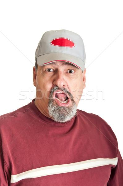 Guardare terrore adulto maschio horror faccia Foto d'archivio © rcarner