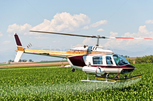Crop Duster Spraying a Field Stock photo © rcarner