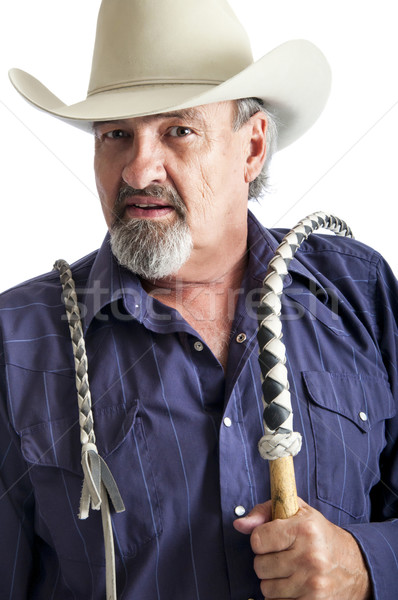 Cowboy with bullwhip ready to work Stock photo © rcarner
